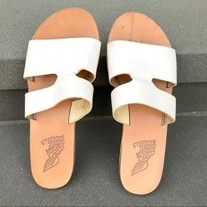 ANCIENT GREEK SANDALS slides sandals leather 8.5